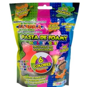 FOAMY MOLDEABLE con 6 colores 60g
