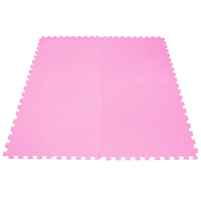 Tapete 60 x 60 Liso con 4 piezas +Rosa Pastel