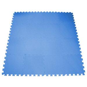 Tapetes 30x30 Liso 18 piezas+Azul Rey