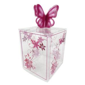 caja mariposa morada